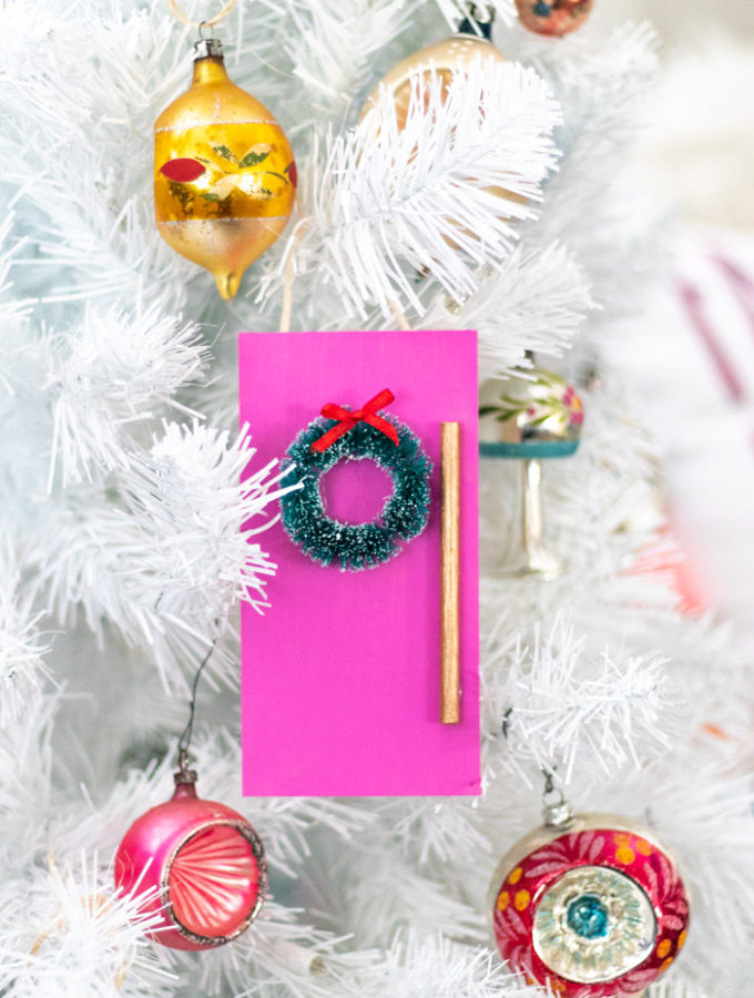 DIY Colorful Door Ornament for Christmas   Club Crafted