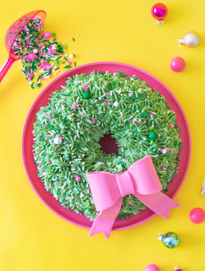 Festive Wreath Bundt Cake