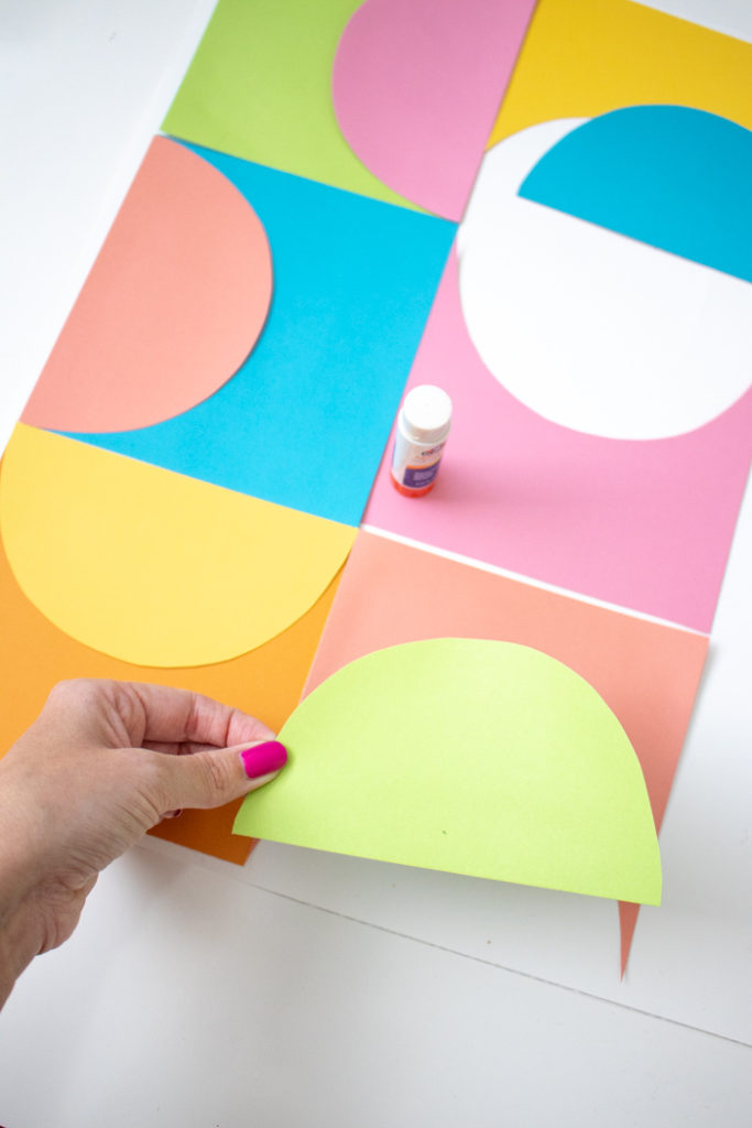 DIY Easy Geometric Paper Wall Art | Club Crafted