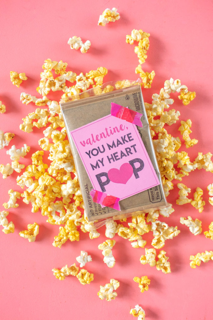 You Make my Heart POP! Printable Popcorn Valentines   Club Crafted