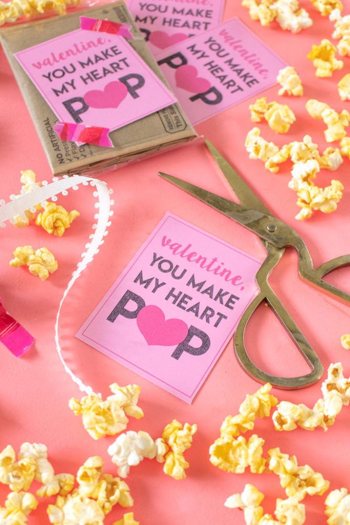 picture regarding You Make My Heart Pop Valentine Printable named Printable Popcorn Valentines: On your own Generate My Middle POP! Club
