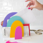 DIY Rainbow Paper Organizer