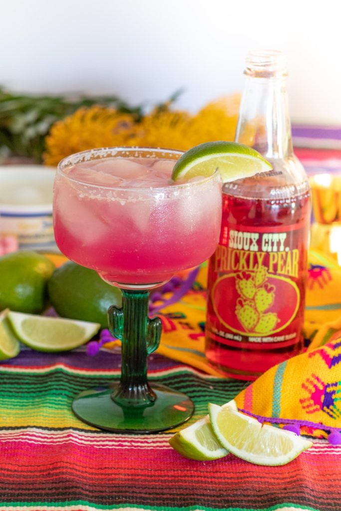 Cactus Cooler Cocktail (Sparkling Prickly Pear Margarita) | Club Crafted