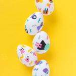 DIY 90s Patterned Easter Eggs