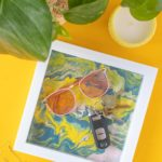 DIY Fluid Painted Marbled Tray from a Photo Frame