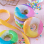 Easy Color Blocked Donuts