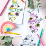 Free Printable! Mother's Day Card Coloring Page