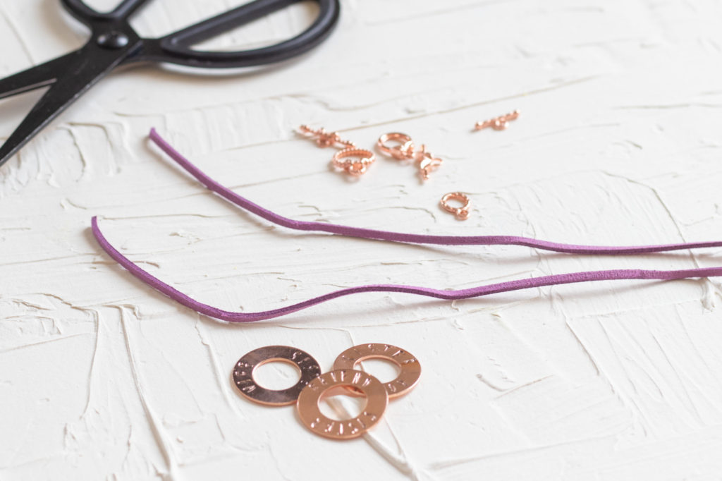 DIY Metal Stamped Washer Bracelets (for Bridesmaid Gifts) | Club Crafted