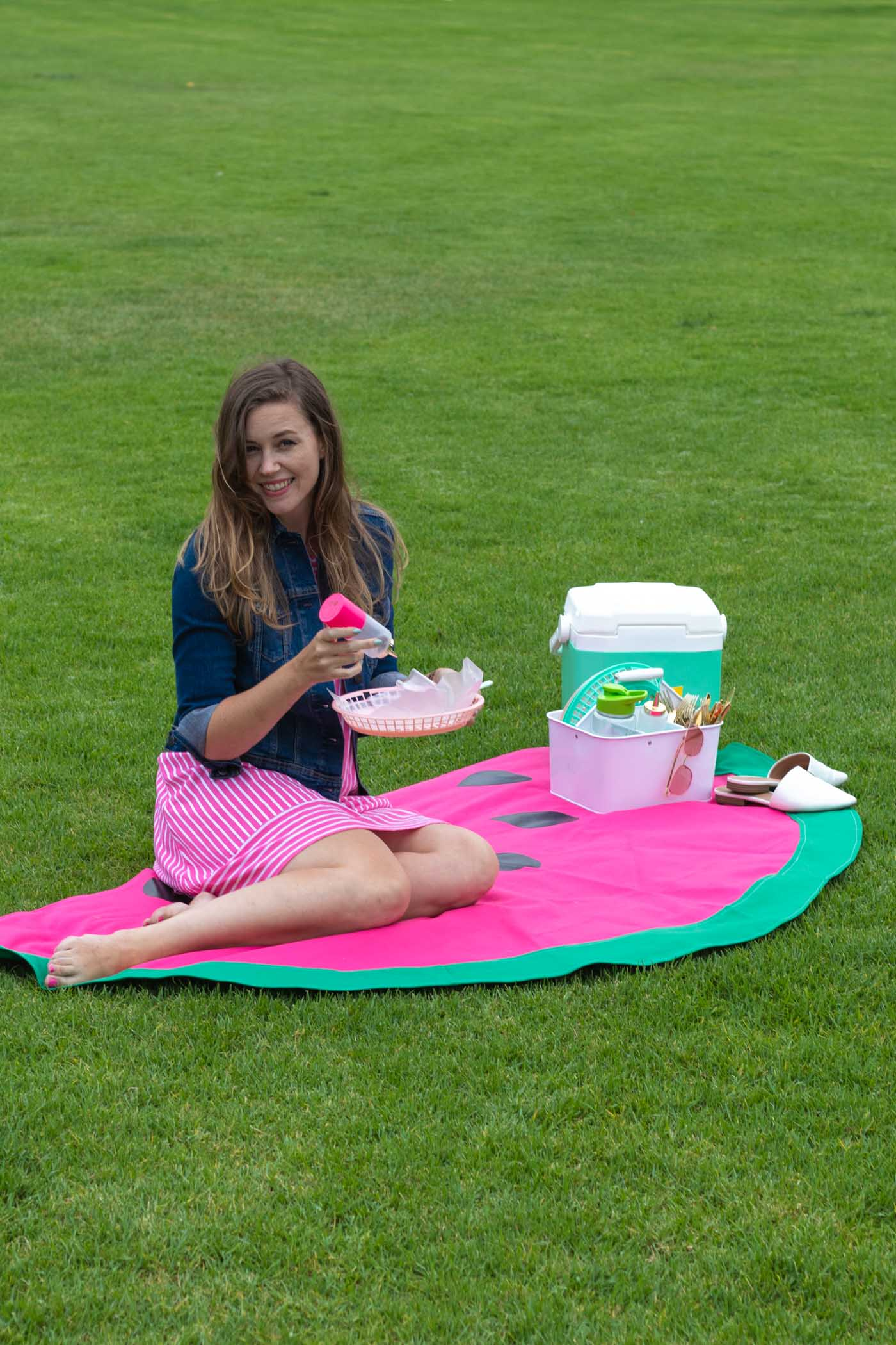 DIY Watermelon Picnic Blanket Sewing Tutorial | Club Crafted