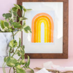 5-Minute Wall Art! Monochromatic Rainbow Art