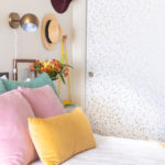 Renter-Friendly Closet Door Makeover with Wallpaper + My Bedroom Refresh for Fall