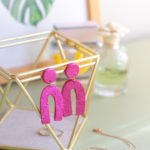 DIY Embossed Earrings with Clay
