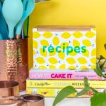 DIY Recipe Box Makeover with Wallpaper