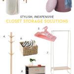 Stylish, Inexpensive Closet Storage Solutions