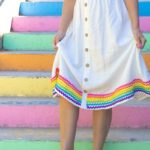 Rainbow RickRack Dress // How to Sew RickRack