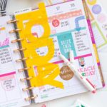 DIY Happy Planner Divider from a Plastic Folder (Free SVG File!)