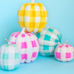 Painted Pumpkin Idea! Gingham Pumpkins
