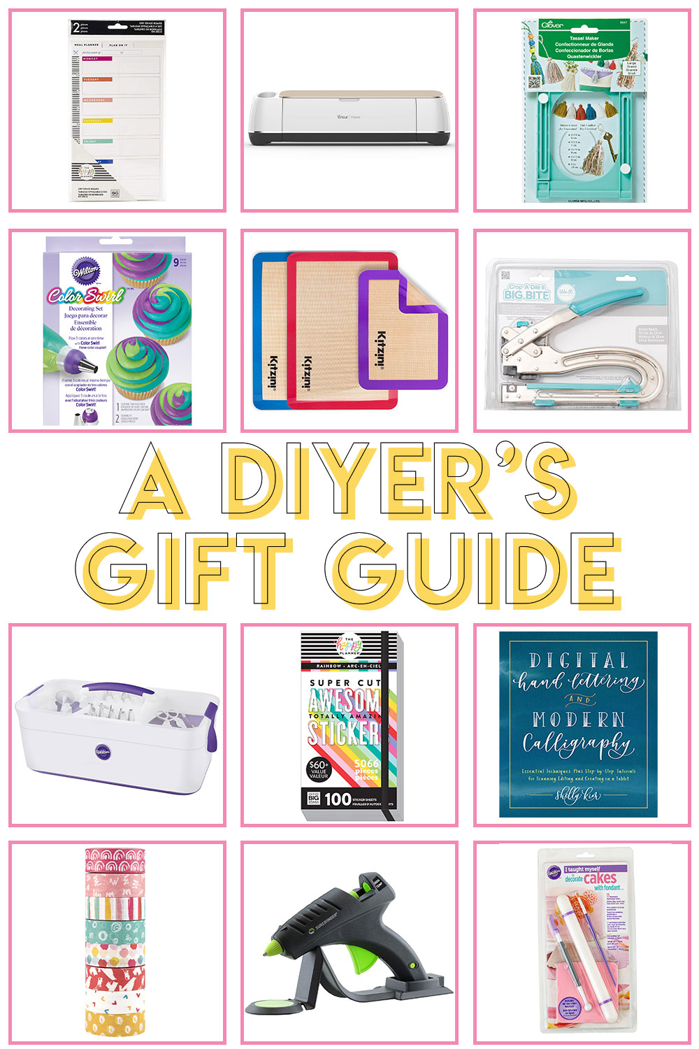 A Crafter Gift Guide // Gift Ideas for DIYers // Check out this roundup of the best gifts for makers this year! Choose a gift for crafters in any price point #christmas #shopping #holidayshopping #giftguide #diygifts #giftideas #craftmas