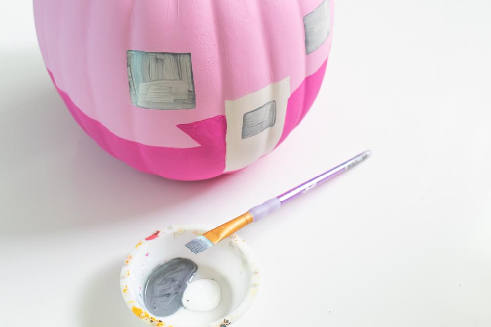 pumpkin painting idea for trailer pumpkin