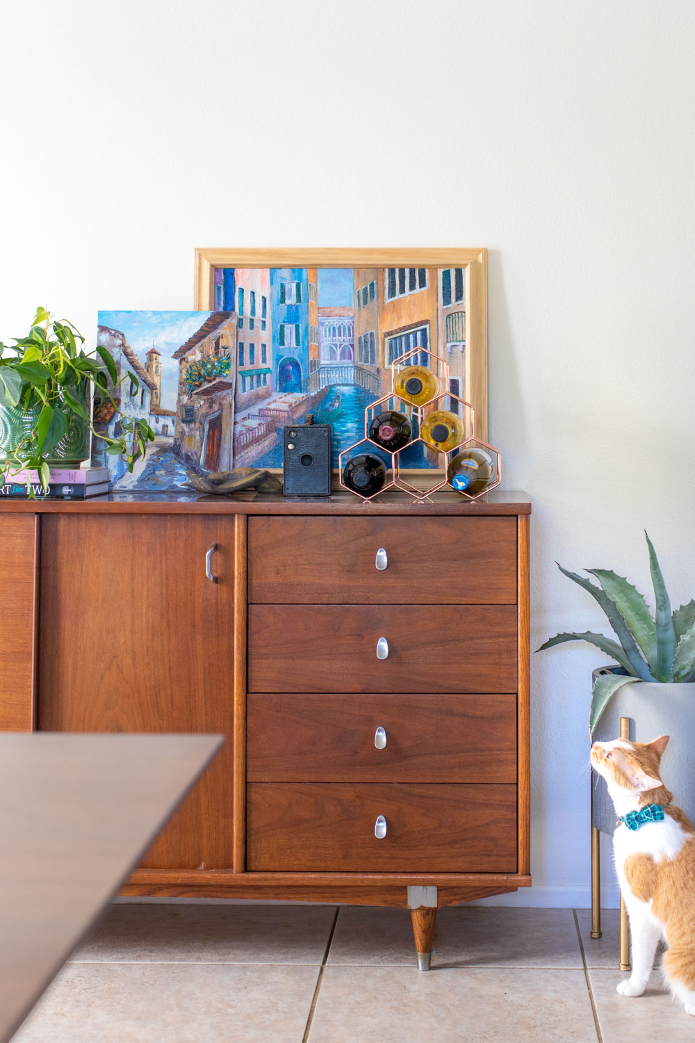 mid-century credenza for budget-friendly home maker