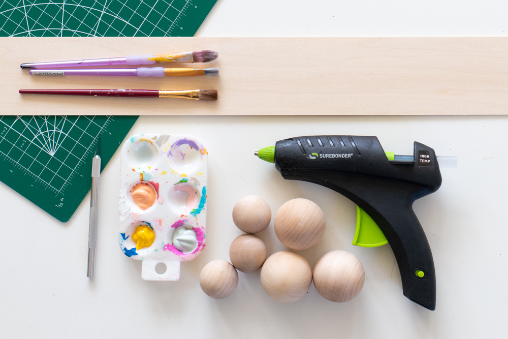 wood supplies for making modern bunny decor
