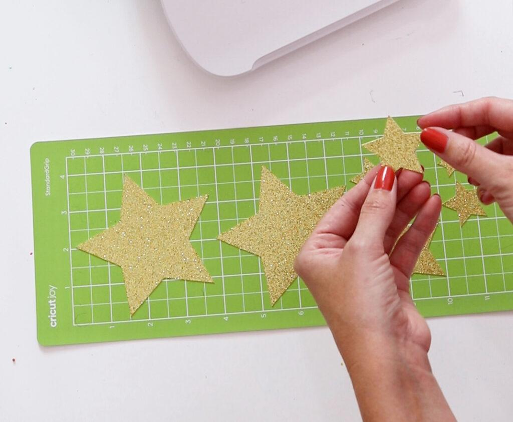 removing stars from Cricut Joy mat